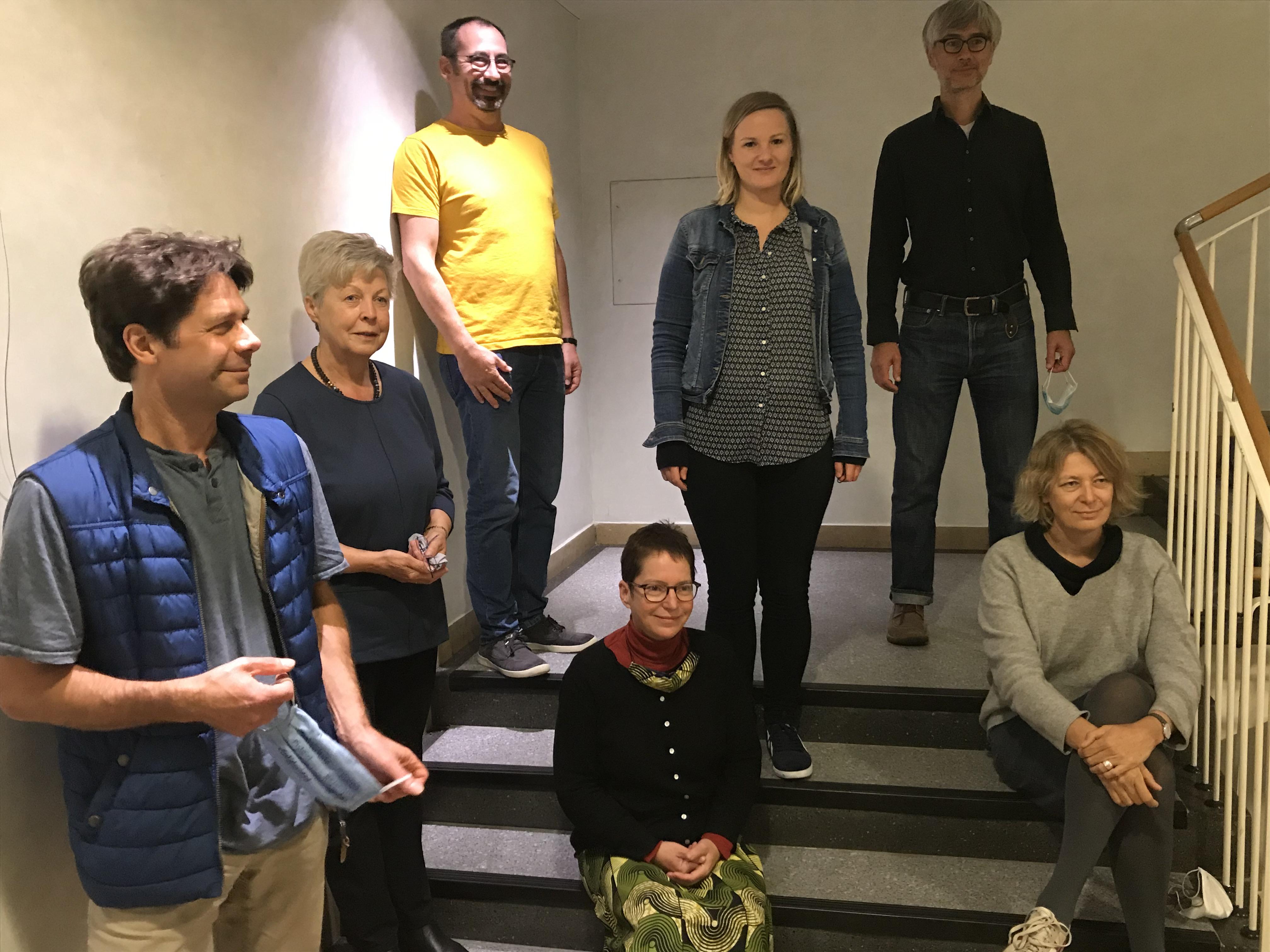AGDF Vorstand 2020. von links: Christof Starke, Christine Busch, Rainer Gertzen, Anthea Bethge, Petra Schachner, Stephan Langenberg und Jutta Weduwen